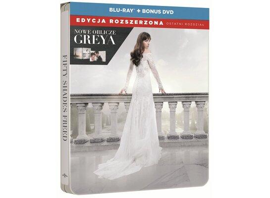 Nowe oblicze Greya. Edycja rozszerzona Steelbook (BD+DVD)