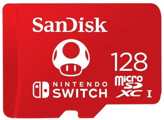 Karta pamięci SANDISK Nintendo Switch microSDXC 128GB 100/90 MB/s SDSQXAO-128G-GNCZN