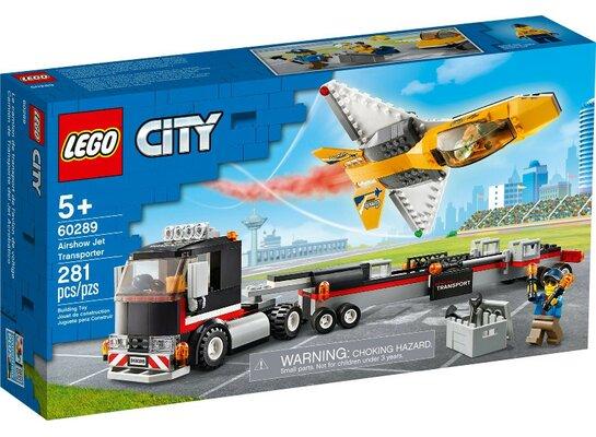 Klocki LEGO City - Transporter odrzutowca pokazowego 60289