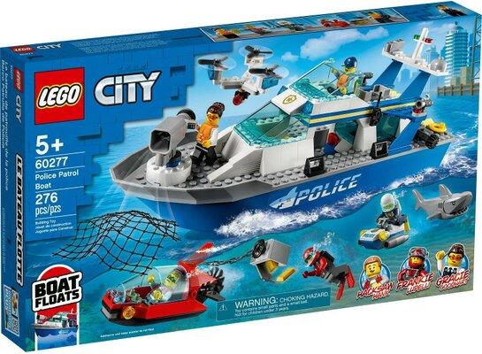 Klocki LEGO City - Policyjna łódź patrolowa 60277