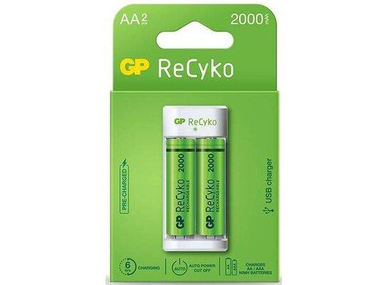 Ładowarka GP ReCyko USB E211 (2xAA 2000mAh)