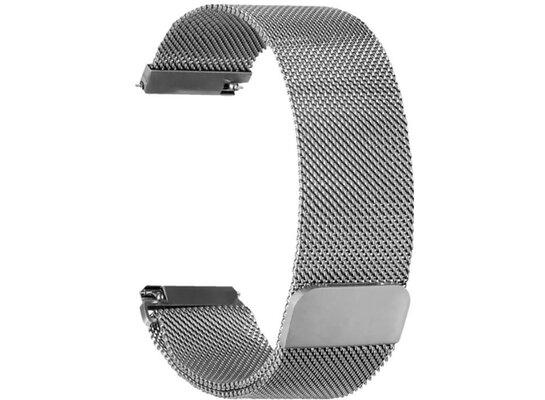 Bransoleta do smartwatcha TOPP Mesh dla smartwatcha Fitbit Versa/Versa 2 Srebrny 40-37-1887